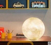 3D печать Луны настольные лампы 2 Цвет изменить сенсорный переключатель для Спальня книжный шкаф Декор ночник творческий подарок