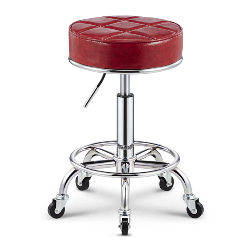 Classic Simple Design Swivel Bar Chair Lifting Bar Stool PU Material Thickened Cushion Hair Salon/Office/Reception/Bar Chair the bar chair hairdressing pulley stool swivel chair master chair technician chair