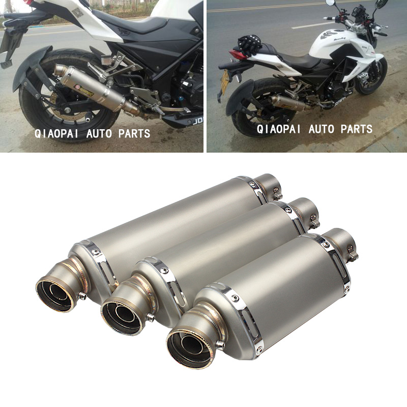 Fashion style universal Triangle Motor Exhaust pipe Muffler modified motorcycle large displacement universal modified 61mm motorcycle modified muffler exhaust pipe carbon fiber exhaust large displacement