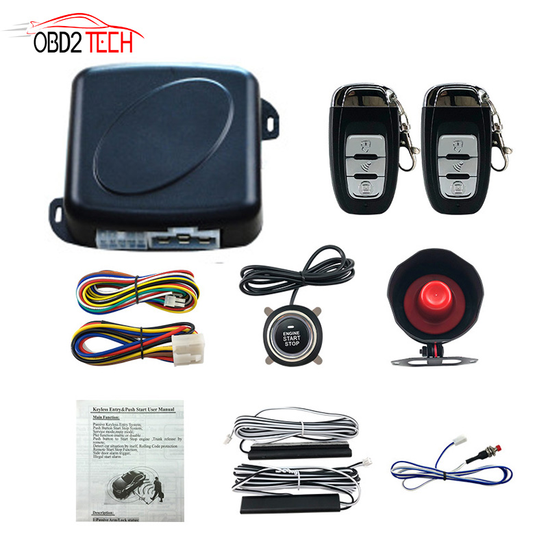 Car One Start Stop Engine System Lock Ignition Button Keyless Entry System Go Push Button Engine Alarm System