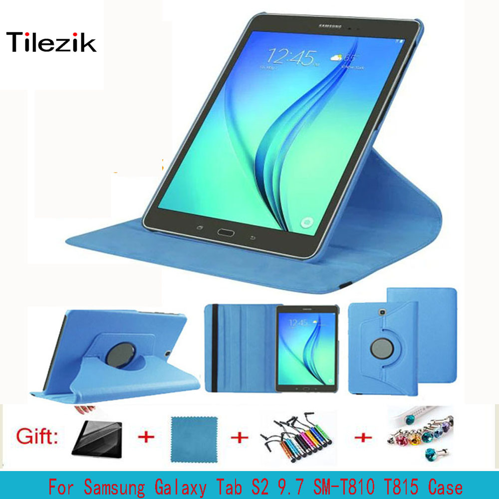 360 Rotating Bracket Leather Cover For Samsung Galaxy Tab S2 9.7 inch T810 T815 SM-T810 SM-T815 Tablet Cover Case