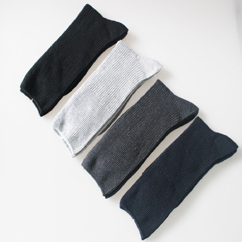 2018 Sale Dress Cotton Standard  The New Men s Simple Double Needle In Tube Socks Business Loose