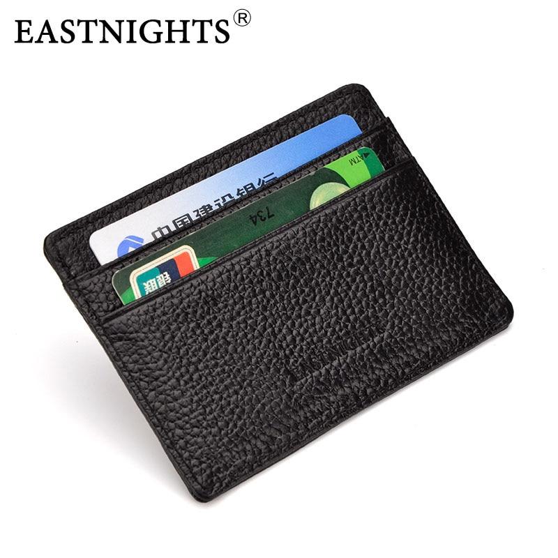 EASTNIGHTS Genuine Leather Card Holder Business Credit Card Holder Women & Men Cow Leather Slim Wallets TW0490 стоимость