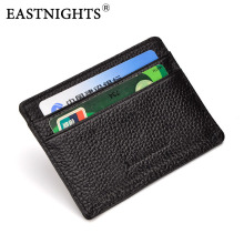 EASTNIGHTS Genuine Leather Card Holder Business Credit Women & Men Cow Slim Wallets  TW0490