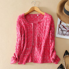 2017 Autumn winter New Styles Thick Open Stitch Cardigan Women Long Sleeve O neck Pure Cashmere