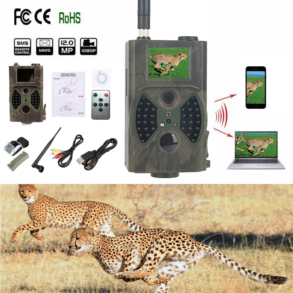 Wireless security camera 12MP 1080P Hunting camera MMS GSM HC300M Wildlife trail camera night vision with high gain antenna интерскол лобзик интерскол мп 120 750э