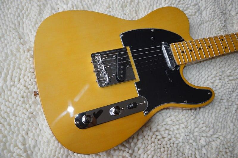 Livraison gratuite Ameran guitare électrique vieilli Vintage, guitare naturelle, corps et poupée en érable, OEM telecaster