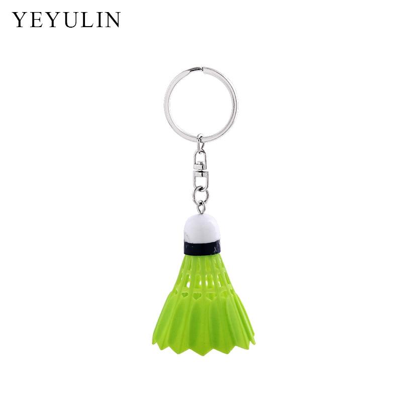New Arrival 3D Badminton Keychain For Women Men Sport Car Bag Pendant Decoration Souveni ...