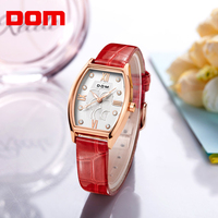 DOM Women Watch Luxury Brand Waterproof Style Quartz Watches Leather Dress Ladies Gold Reloj Female Girls