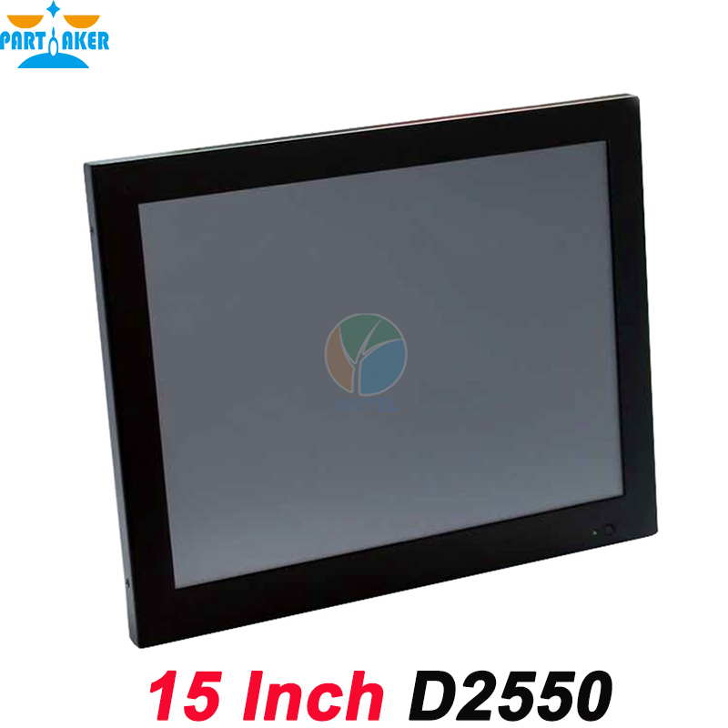 15 Inch industrial touch all in one pc computer with 5 wire Gtouch industrial embedded pc with 4: 3 6COM LPT 4G RAM 1.5TB HDD