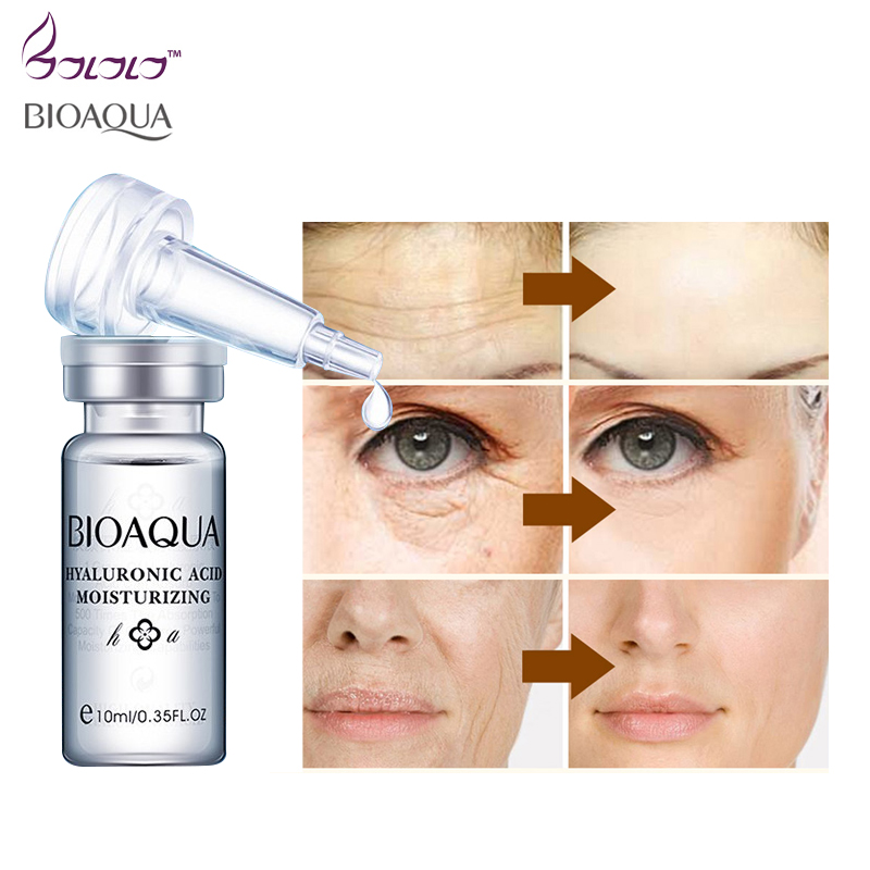 moisturizing lifting serum face hyaluronic acid injections liquid essence its skin whitening anti-wrinkle HA skin care bioaqua germany balea beauty effect wrinkle filler hyaluronic acid serum moisturizing essence lifting effect vegan paraben free