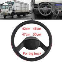 42 cm 45 cm 47 cm 50 cm KIEROWNICA pokrywa/miękkie ciepłe pluszowe zima kierownicy koła warkocz pasuje do samochodów ciężarowych, wagon, Heavy duty ciężarówka skrzyniowa