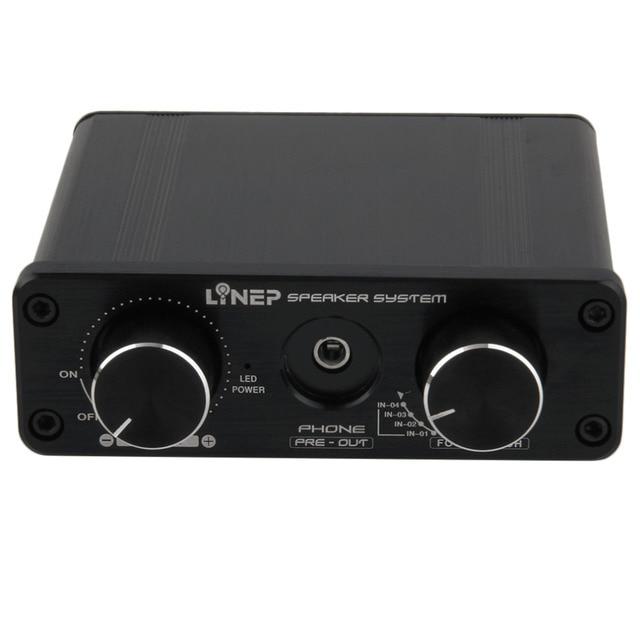 Горячая Новый A926 4-в 2-Out Мини Аудио Switcher Hifi Цифровой Аудио Усилитель Для Наушников Звуковой Процессор Предусилитель MP3 Переключатель