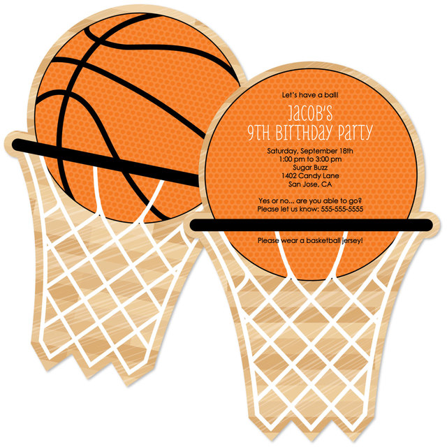 12pcs basketball theme invitations card party decor personalized