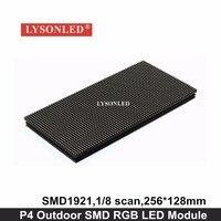 LYSONLED Toplu Sipariş-40 adet/grup SMD P4 Açık LED Modülü 256x128mm, HD Açık P4 Tam Renkli LED Ekran Paneli 64*32 Piksel