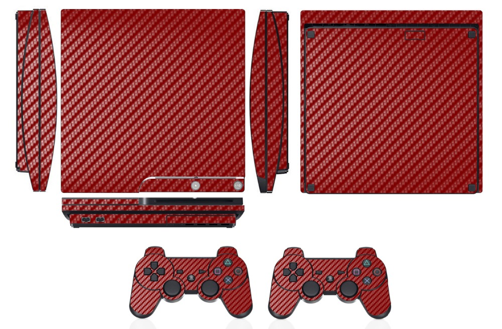 Video Games & Consoles Red Carbon Fiber Vinyl Skin Sticker Cover For Sony Ps4 Slim Playstation 4 Slim