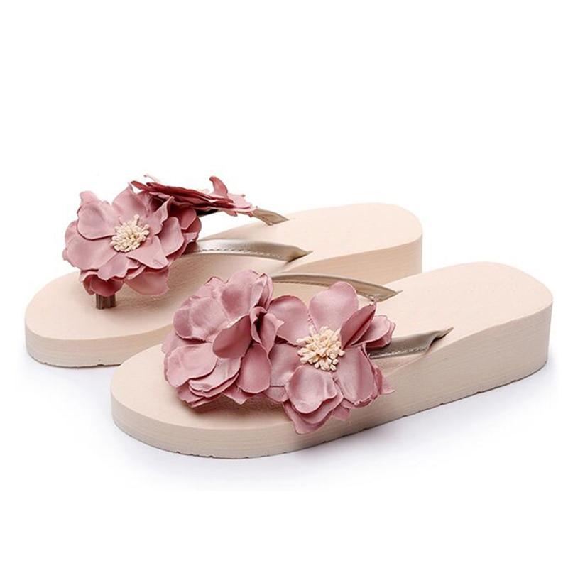 Altos 4 Plataforma Moda 1 Verano Mujeres Sandalias Zapatillas Flip Zapatos 2 3 5 Flores K11 Cuñas Flops 2017 Ultra Playa Tacones PYxRcwq