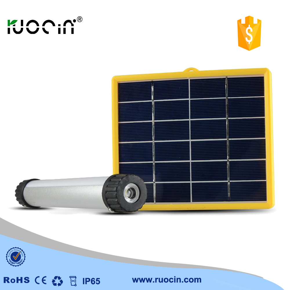 home AC current charger flashlight torch Li-polymer solar light outdoor camping solar lamp