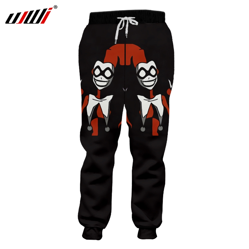 UJWI  Winter Man Casual Pocket Harem Pants 3D Printed Funny Clown Streetwear Plus Size 5XL Clothing Unisex Sweatpants Suppliers
