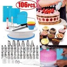 106 шт комплект для украшения торта принадлежности для выпечки аксессуары для глазури набор инструментов для выпечки дома