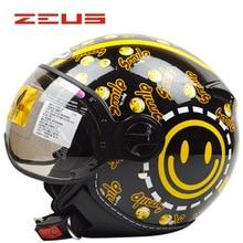 New brand ZEUS ZS-210c Motorcycle helmet,Women's Scooter helmet,Men's vintage helmet Moto capacete DOT approved M/L/XL/XXL