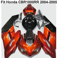 Orange Black Motorcycle Fairings Set CBR1000RR CBR 1000 RR 2004 2005 Bodywork Kit Fairing For Honda