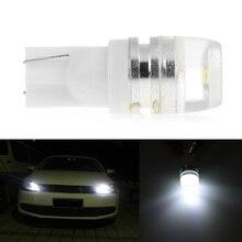 цена на 10pcs T10 2 SMD 5630 Lens LED 2md 5730 Spot 168 194 Car Light Auto Bulb License Plate Light White Green Red Yellow Ice blue 12V