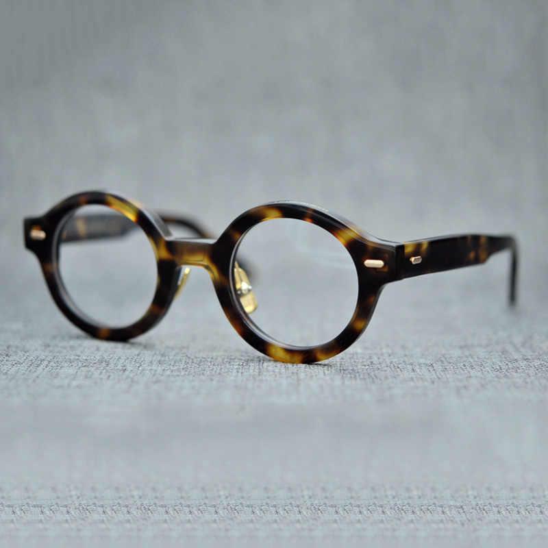 31ca6fb0a79 ... Vazrobe Acetate Glasses Men Women Small Round Eyeglasses Frames Man  Female Vintage Tortoise Eyeglass Prescription Myopia ...