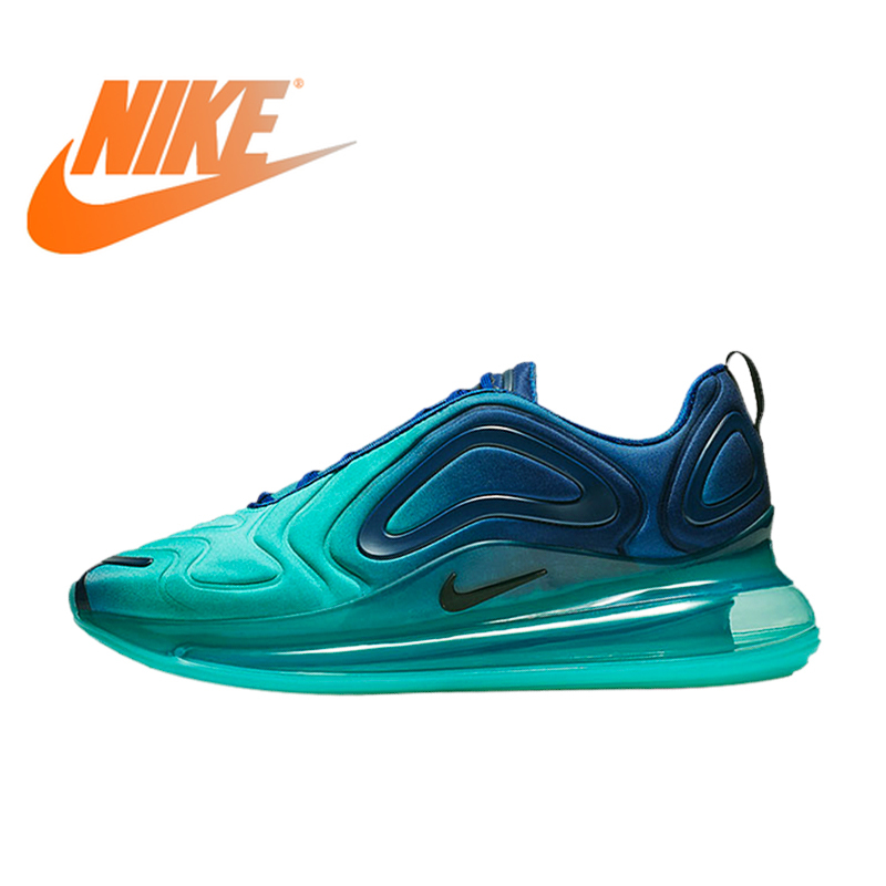 Oficial Autêntico Nike Air Max 720 Tênis de corrida dos homens Respirável Ao Ar Livre Calçados Esportivos Sapatos Da Moda Tendência Durable New AO2924-400