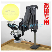 jewelery tools 7X 45X Stereo Microscope with lens and stand jewellers tool microscope for jewelers with 1 led ring lamp goldsmit