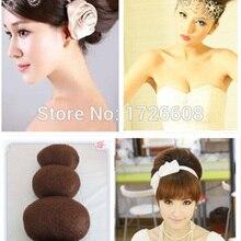 Custom made Round & Long bun Chignon put on synthetic stuffing hair paddings Wom