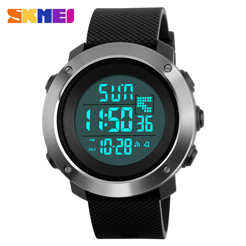 SKMEI Lovers Digital Watch Sports Horloges Heren Dames Chrono 2 Tijd 12/24 Uren Countdown Fashion Topmerk Horloges 1267/1268