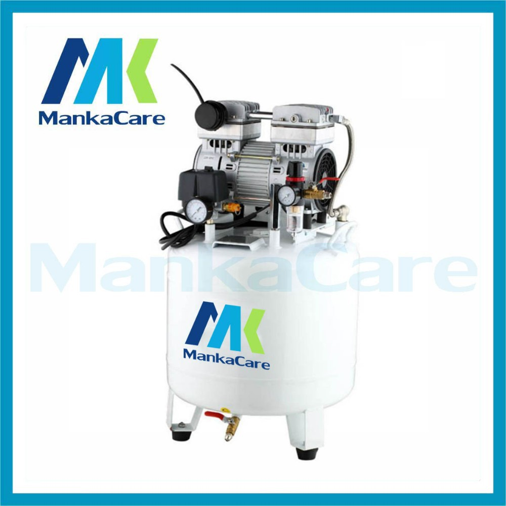 Manka Care - 40L 750W Dental Air Compressor/Printing in Tank/Rust-Proof Chamber/Silent/Oil Less/Oil Free,/Compressing Machine