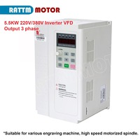 5.5KW 220V or 380V 3HP Variable Frequency VFD Inverter Output 3 phase 1000Hz 13A/23A