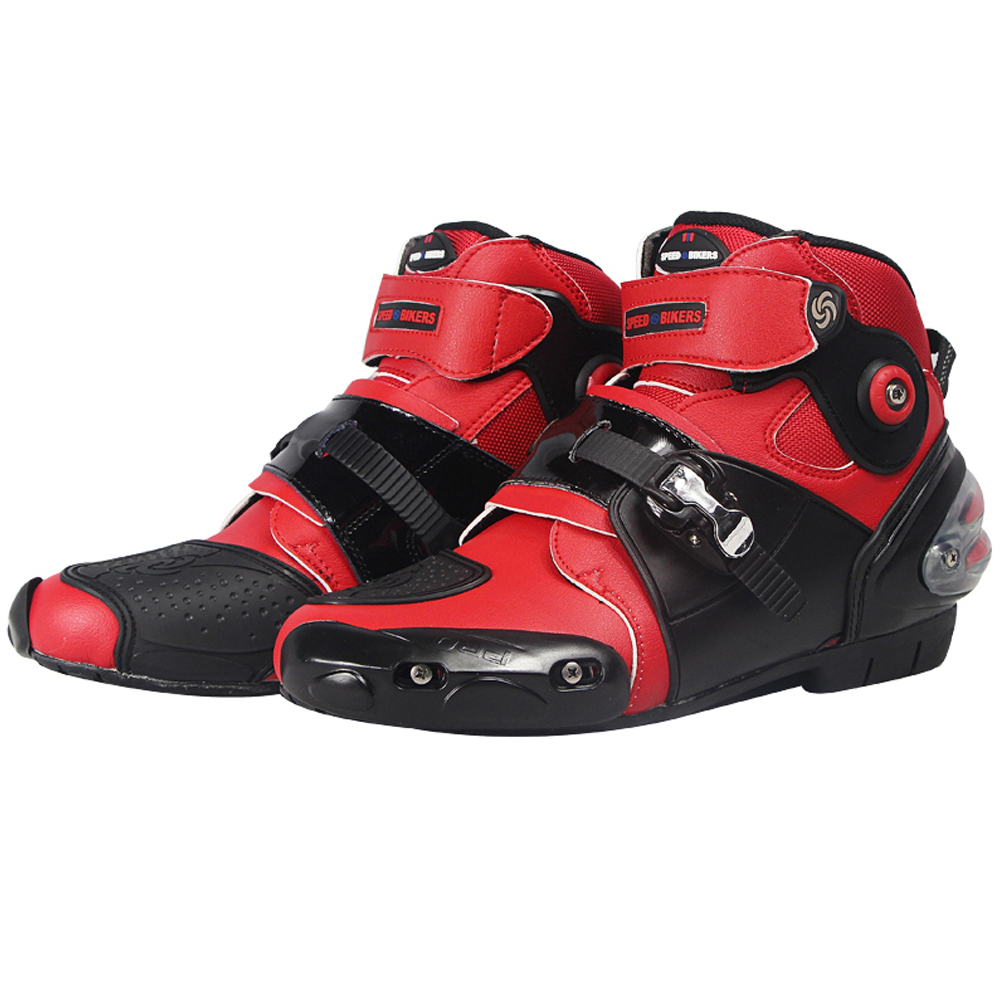 Motorcycle Boots Pro-biker SPEED road moto Racing Motocross Shoes Motorbike protection Black red white size 40-47 risk racing 00 110 black motocross grip donuts with blister protection
