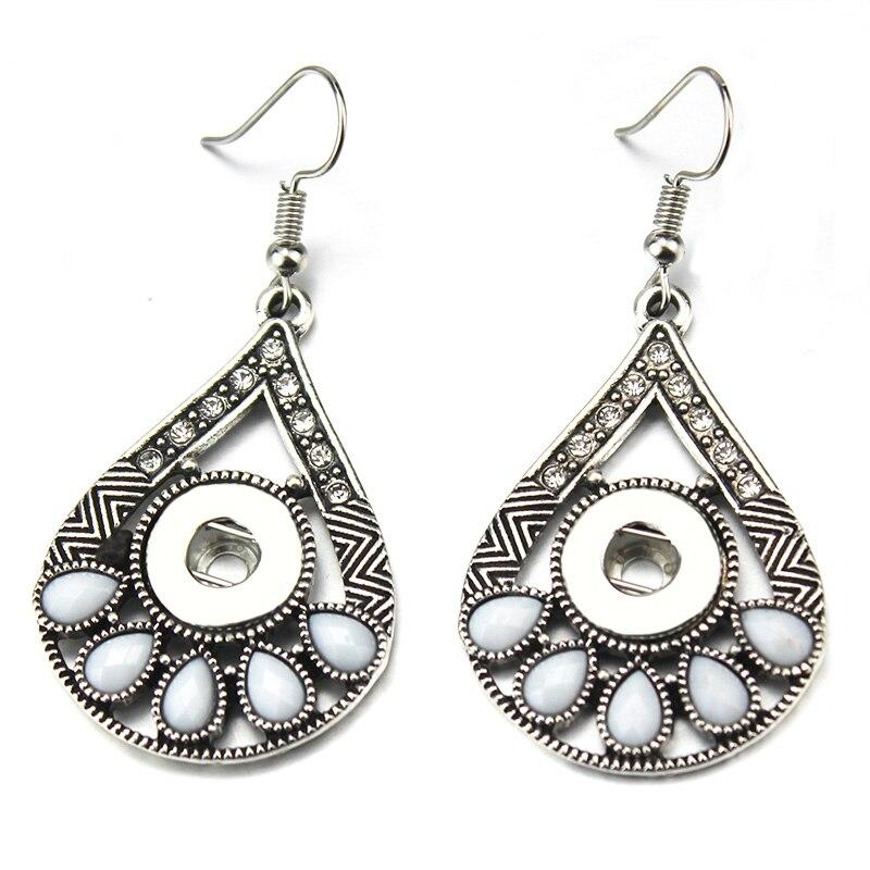 Wholesale Ginger Crystal 12mm Snap Earrings Rhinestone Snap Jewelry DIY Button Earrings For Women