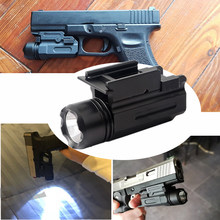 20mm Rail Pistol MINI Licht Pistool LED Tactische Wapen Licht Airsoft Militaire Jacht Zaklamp Voor GLOCK Glock 17 18c 22 34(China)