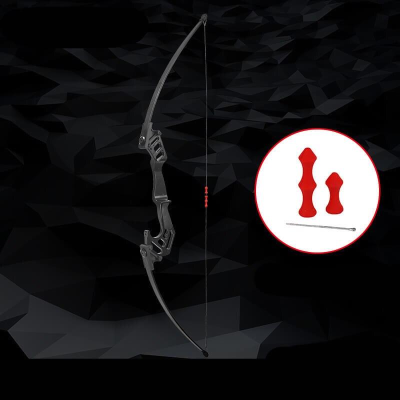 35lbs main droite arc droit complet chasse pêche tir à l'arc 53 ''arc droit Longbow alliage pratique détachable ensemble