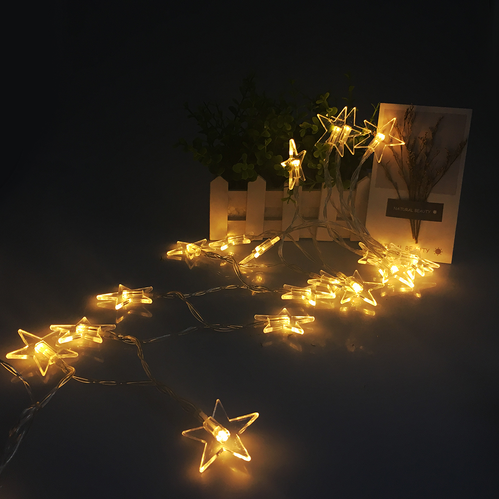 USB LED String Fairy Light 2M 20LEDs Star Ball Holiday Lighting String Garland Christmas Light Party Wedding Decoration