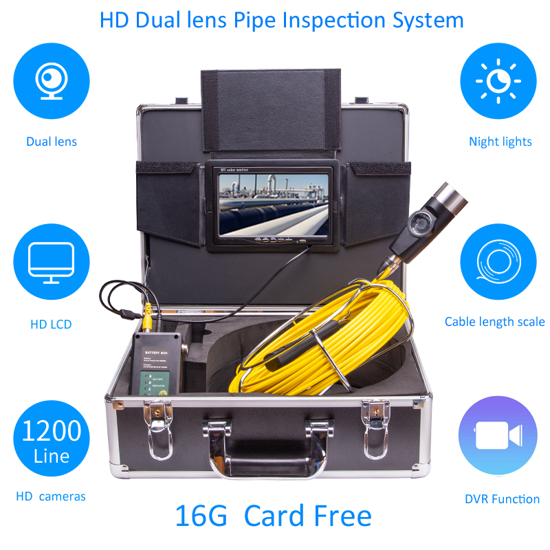Image 2 - Eyoyo P70E 30M Pipe Pipeline Sewer Inspection Snake Video System DVR Camera Industrial Endoscope Waterproof IP68Surveillance Cameras   -