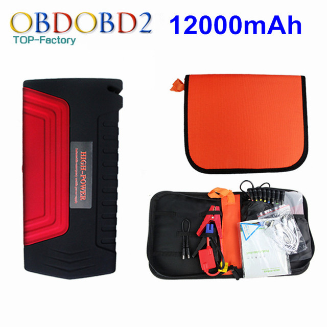 Portable 12000mAh Car Battery Charger Jump Starter 12V Gasoline Version Car Power Bank Laptop With 3 Years Warranty