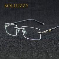 Rimless eyeglasses titanium alloy oculos de sol glass optical men 1622 prescription classic spectacle business myopia trimming