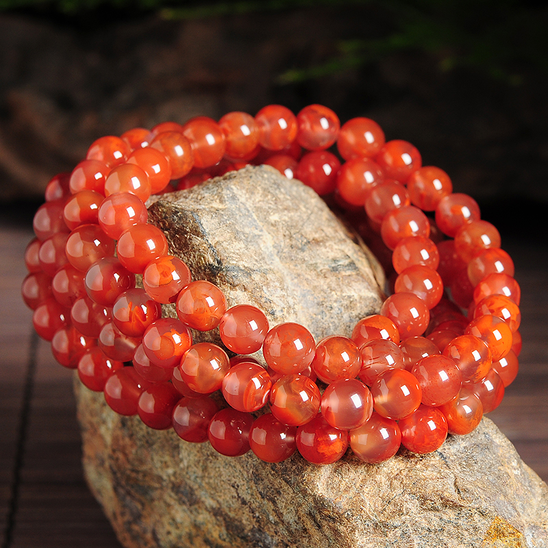 Fashion Natural red necklace 100% A+ bead Elastic line necklace 80-88cm Hot Sale