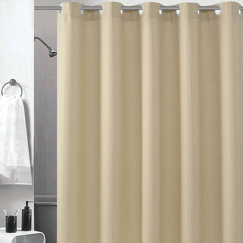 Nuevas cortinas de ducha de tela de poliéster a prueba de agua con 12 ganchos cortina de baño resistente a moho accesorios de baño elegantes de calidad