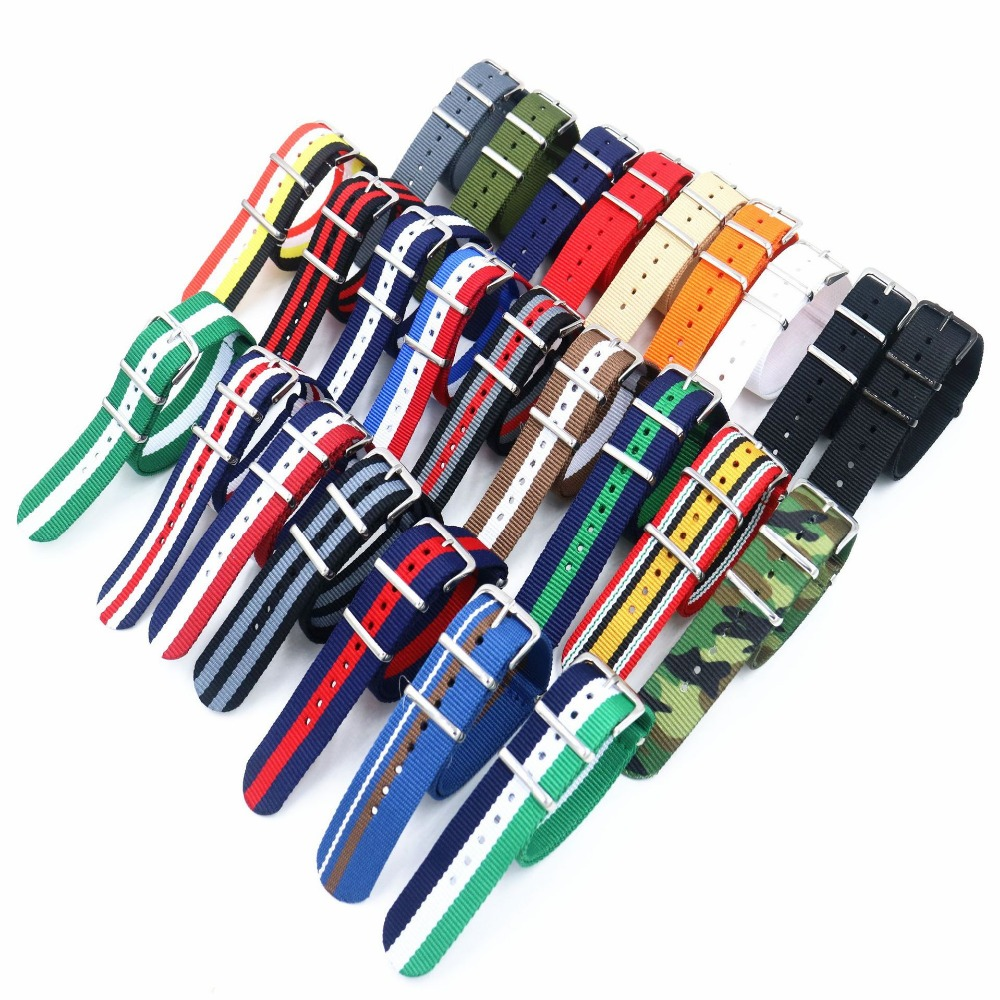 купить Double buckle watch band straps Waterproof Watchband for Daniel Wellington DW Nato belt 18mm 20mm Nylon Watch Strap Replace Band по цене 134.64 рублей