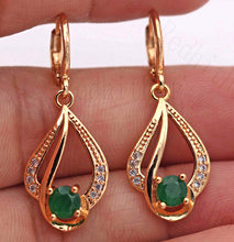 New Bohemian Statement Earrings for Women Gold Filled Waterdrop Earring with Zircon Luxury Jewelry for Party Wedding Engagement(China)
