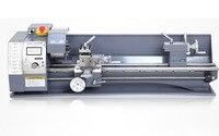 850 w velocidade variável mini torno do metal do motor sem escova da máquina 220 v do torno mini para o processamento de aço inoxidável metalúrgico ce completo