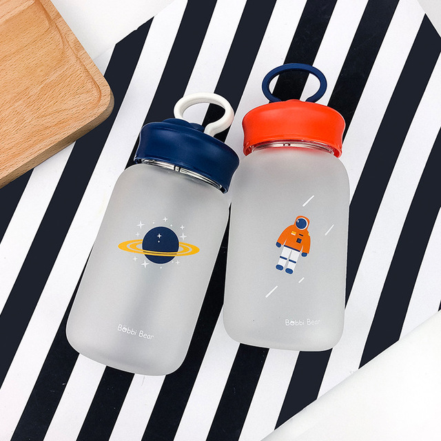 Creative Mobile Phone Holder Glass Water Bottle 3