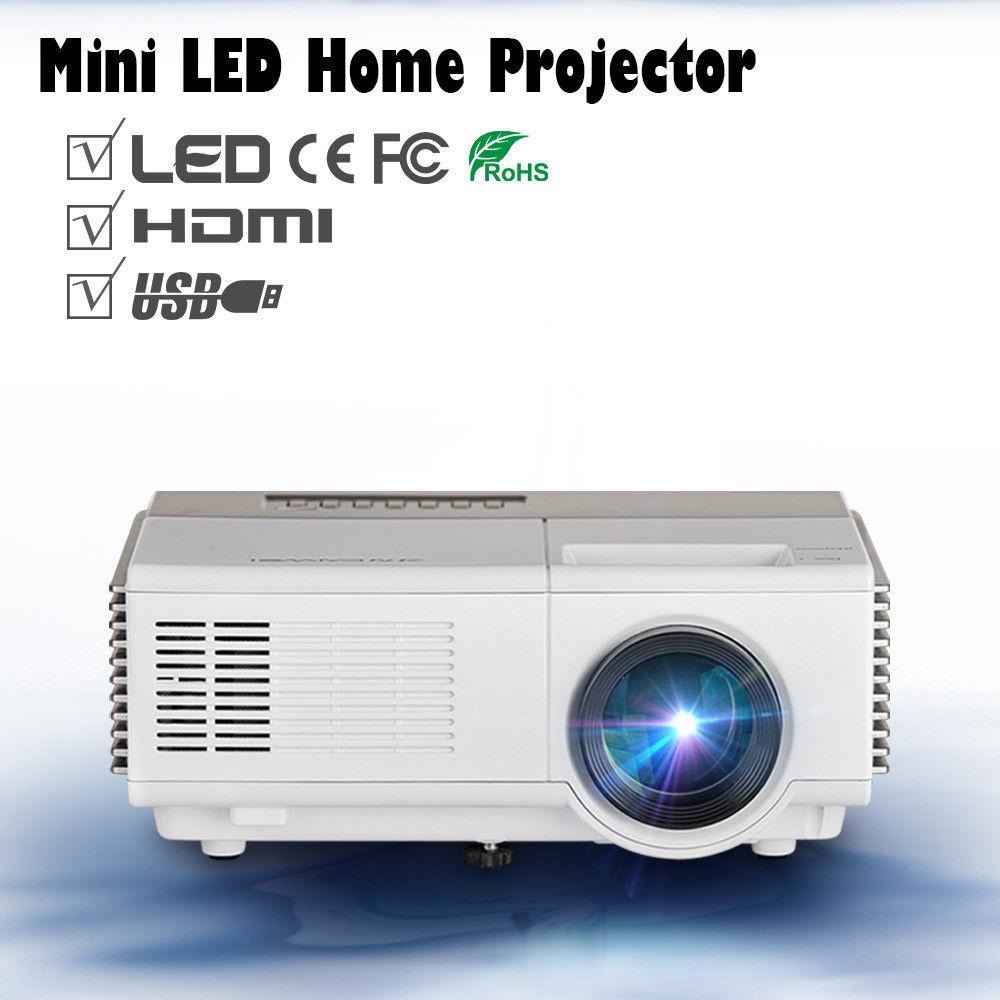 CAIWEI Portable Mini Projector LED TV Movie Beamer 2000 Lumen LCD