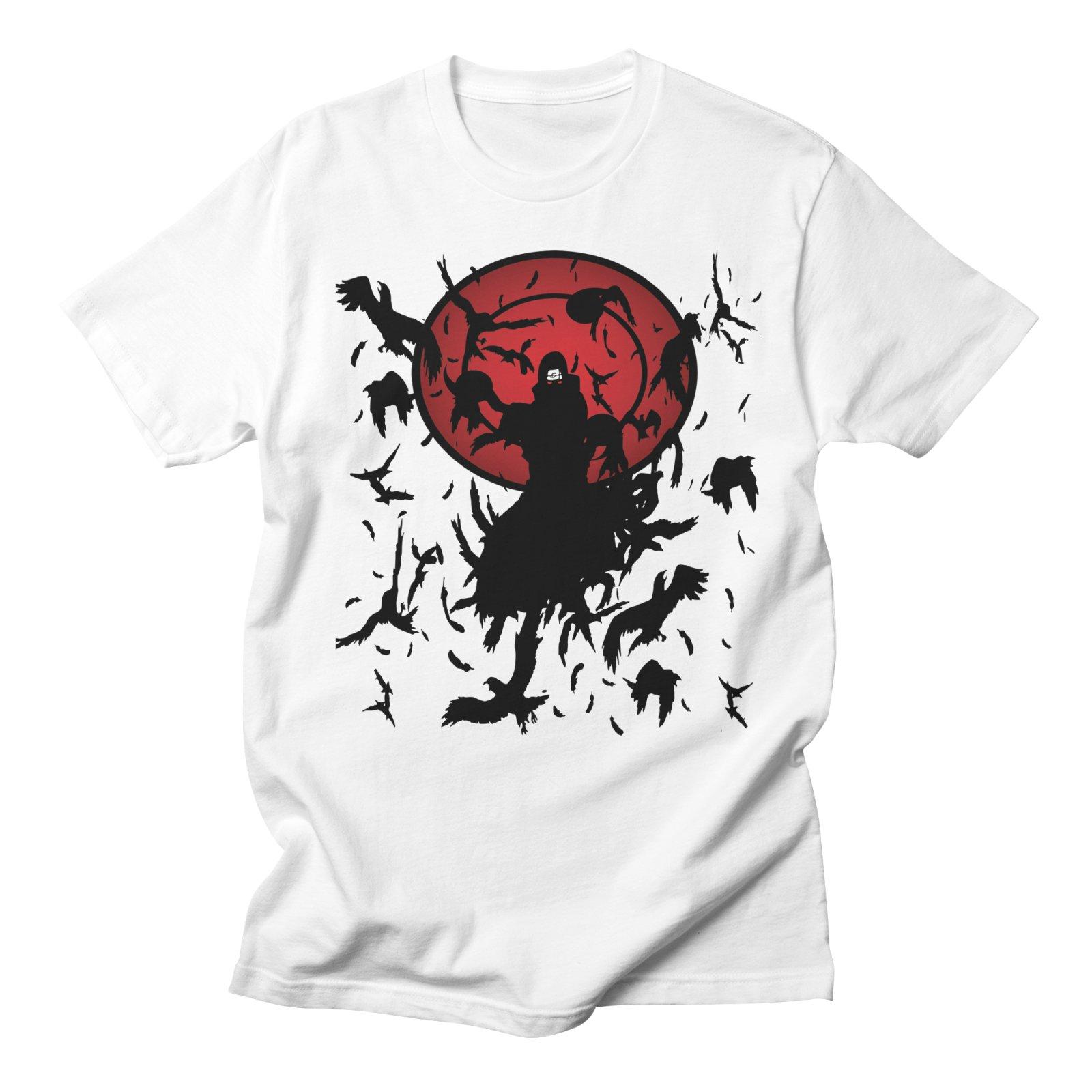 Naruto Uchiha Itachi Anime Tshirts Fashion Men Streetwear Harajuku Casual Cotton Creative Plus Size White T shirt Men Clothes